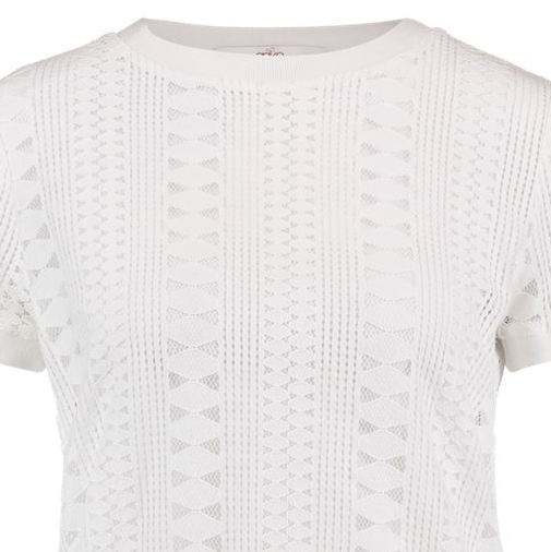 Aaiko t-shirts FLEURON CO 514 in het Offwhite
