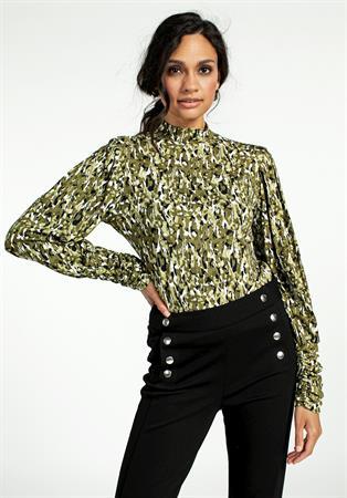 Aaiko t-shirts GENA BLURRY VIS 1 in het Licht Groen