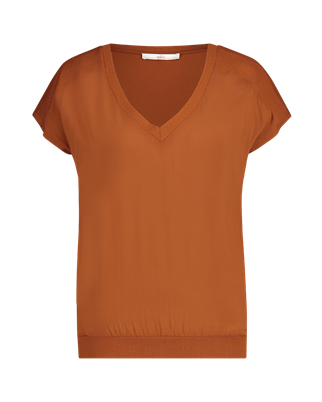 Aaiko t-shirts JENA VIS 344 in het Brique