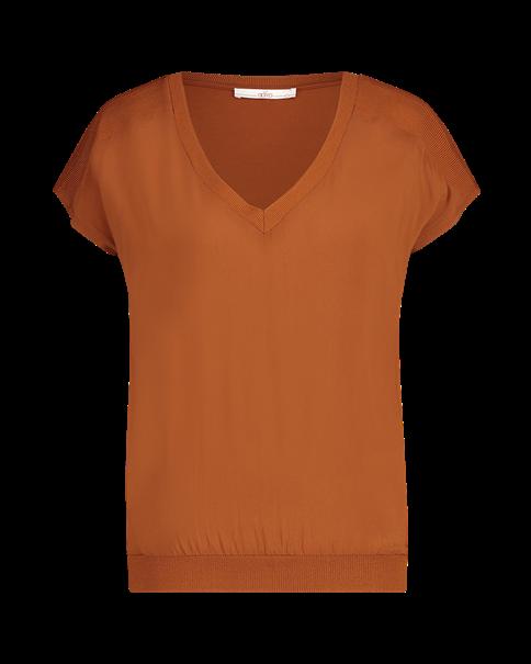 Aaiko t-shirts JENA VIS 344 in het Brique