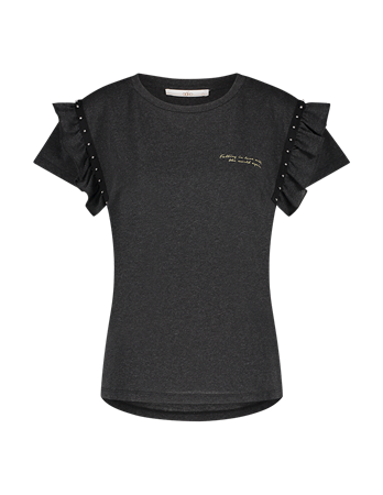 Aaiko t-shirts SALLY CO 190 in het Zwart
