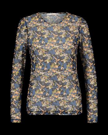 Aaiko t-shirts SARAYA FLOWER PES in het Hemels Blauw