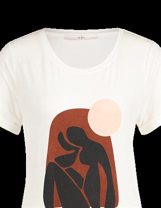 Aaiko t-shirts SHANDY VIS 384 in het Wit