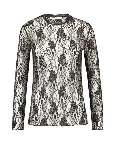 Aaiko t-shirts SYENNA LACE PES in het Zwart