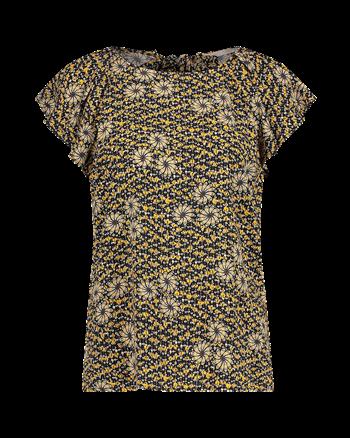 Aaiko t-shirts VANIA FLOWER ECO in het Zwart