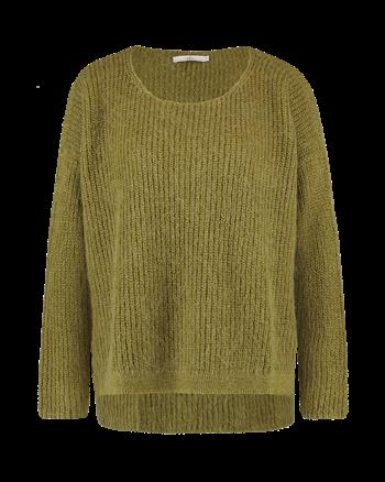 Aaiko trui PALERMO MOH 297 in het Olijf groen