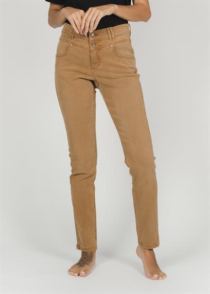 Angels broek Skinny 188120330 in het Camel