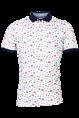 Baileys polo's Regular Fit 10-5221 in het Wit/Rood