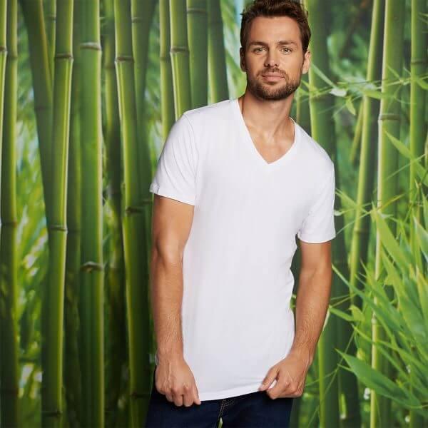 Bamboo Basics t-shirts velo-001 in het Wit
