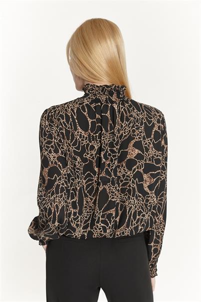 Batida blouse 9165 in het Zwart / Bruin