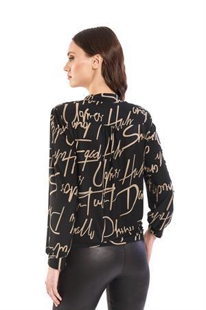 Batida blouse 9205 in het Zwart / Beige