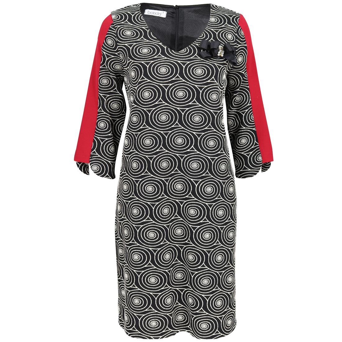 Batida jurk 7347 in het Rood