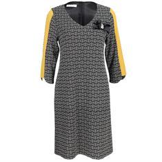 Batida jurk 7347 in het Zwart / Wit