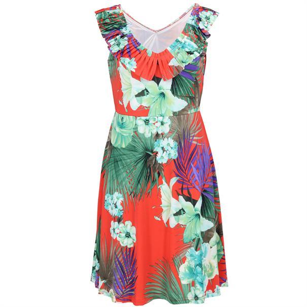 Batida jurk 7831 in het Rood