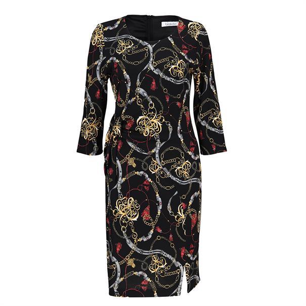 Batida jurk 7927 in het Zwart / Rood