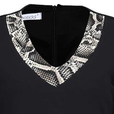 Batida jurk 7933 in het Zwart