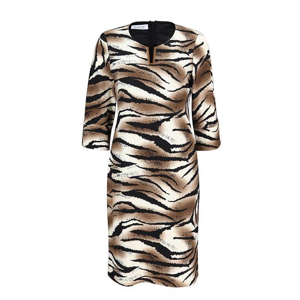 Batida jurk 8047 in het Zwart / Beige