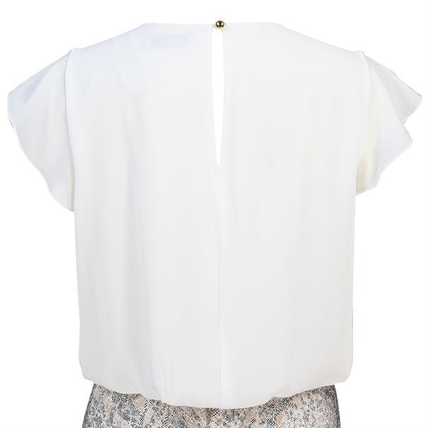 Batida jurk 8374 in het Wit/Grijs