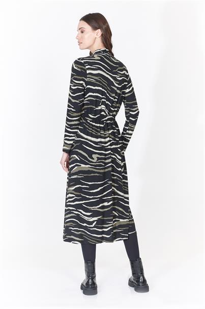 Batida jurk 9190 in het Zwart / Bruin