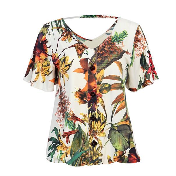 Batida t-shirts 8265 in het Wit/Groen