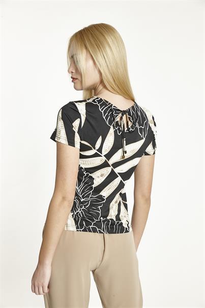 Batida t-shirts 8900 in het Zwart / Beige