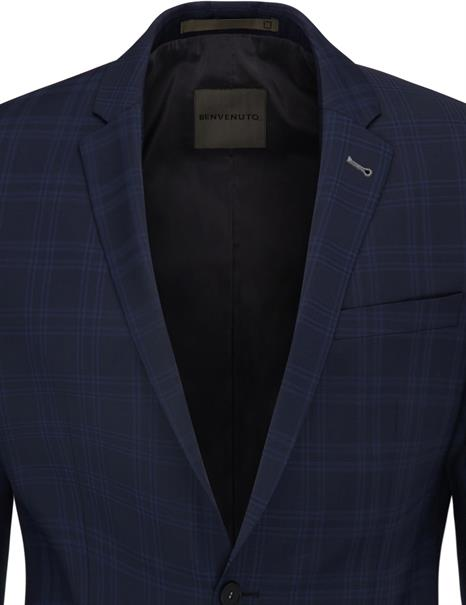 Benvenuto business colbert Super Slim Fit 20895615660 in het Hemels Blauw