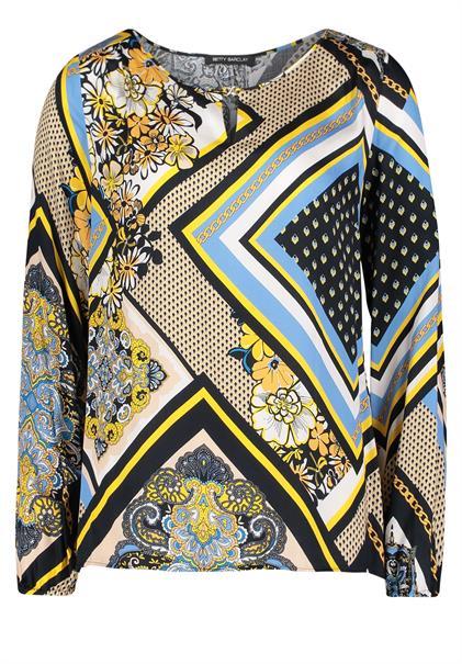 Betty Barclay blouse 8011-1050 in het Wit/Blauw