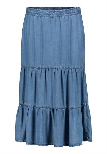 Betty Barclay maxi rok 90101282 in het Licht Blauw