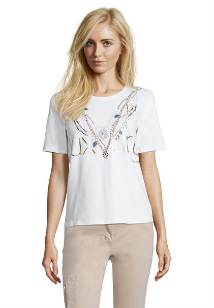 Betty Barclay t-shirts 2046-1134 in het Wit/Geel