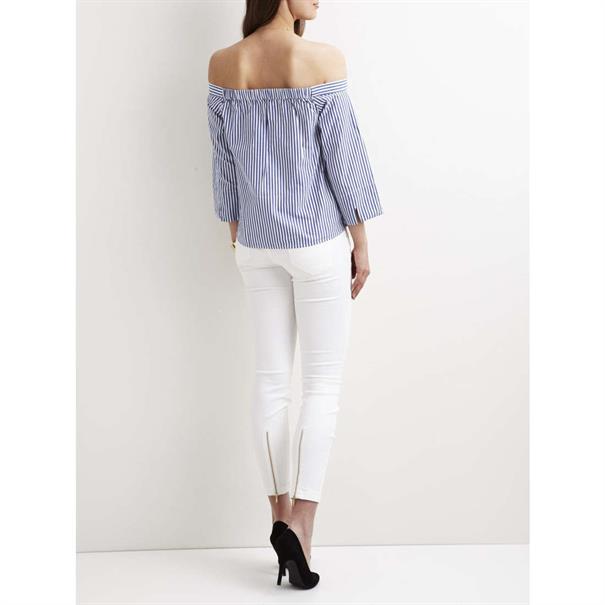 blouse 23025396 in het Wit/Blauw