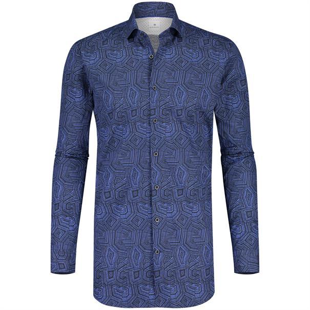Blue Industry business overhemd 1148-82 in het Marine