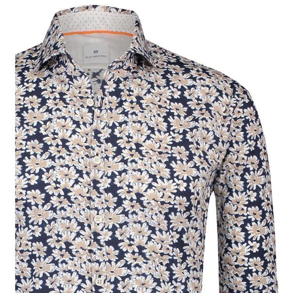 Blue Industry business overhemd Slim Fit 1239-91 in het Beige