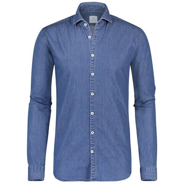 Blue Industry business overhemd Slim Fit 1242-91 in het Stonewash