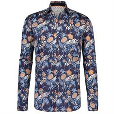 Blue Industry casual overhemd 1220-91 in het Oranje