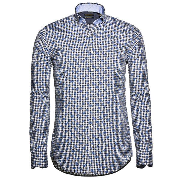 Blue Industry casual overhemd 786.62 in het Donker Blauw