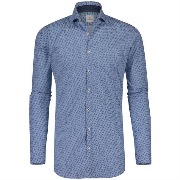 Blue Industry casual overhemd Slim Fit 1153-82 in het Licht Blauw