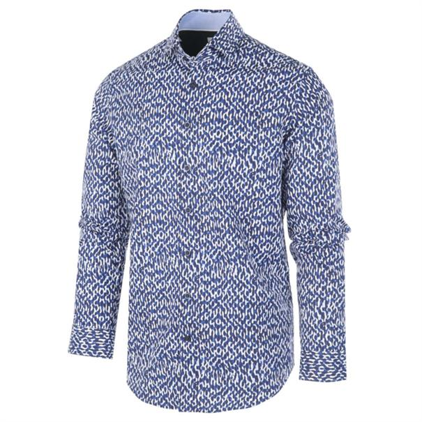 Blue Industry casual overhemd Slim Fit 1159.92 in het Kobalt