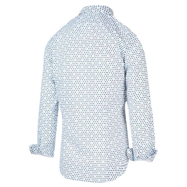 Blue Industry casual overhemd Slim Fit 2023.21 in het Marine