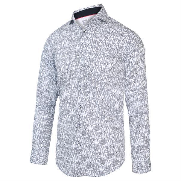 Blue Industry casual overhemd Slim Fit 2034.21 in het Wit