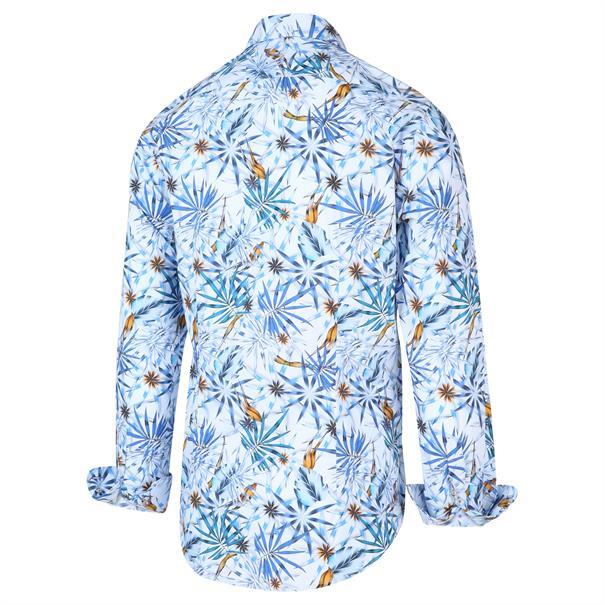Blue Industry casual overhemd Slim Fit 2046.21 in het Marine