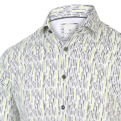 Blue Industry casual overhemd Slim Fit 2067.21 in het Mint Groen