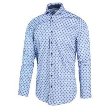 Blue Industry casual overhemd Slim Fit 2104.22 in het Marine
