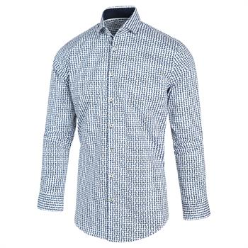 Blue Industry casual overhemd Slim Fit 2109.22 in het Marine