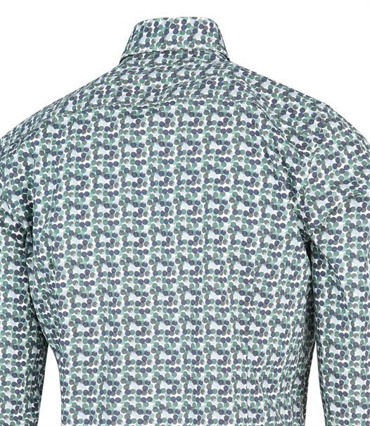 Blue Industry casual overhemd Slim Fit 2163.22 in het Mint Groen