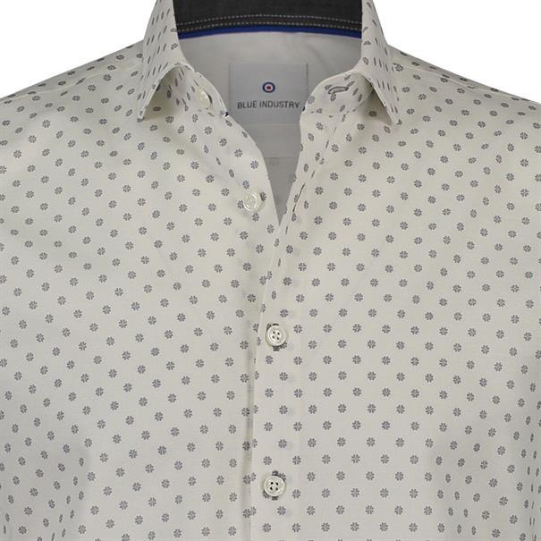 Blue Industry overhemd 1147-82 in het Wit/Grijs