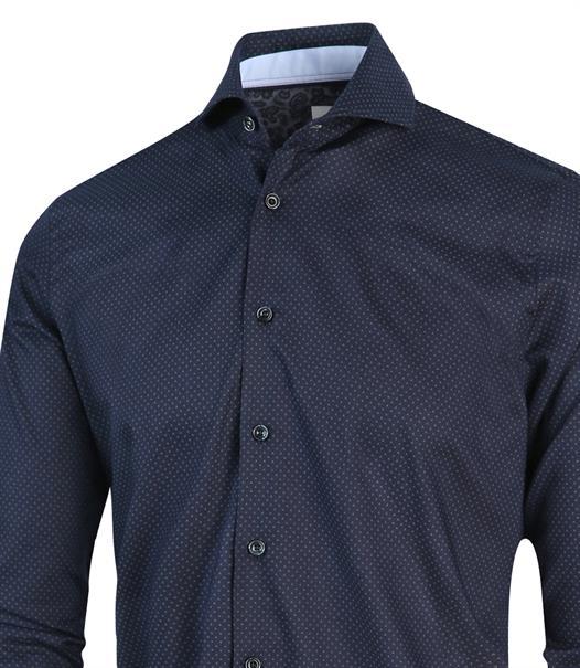 Blue Industry overhemd 2156.22 in het Marine