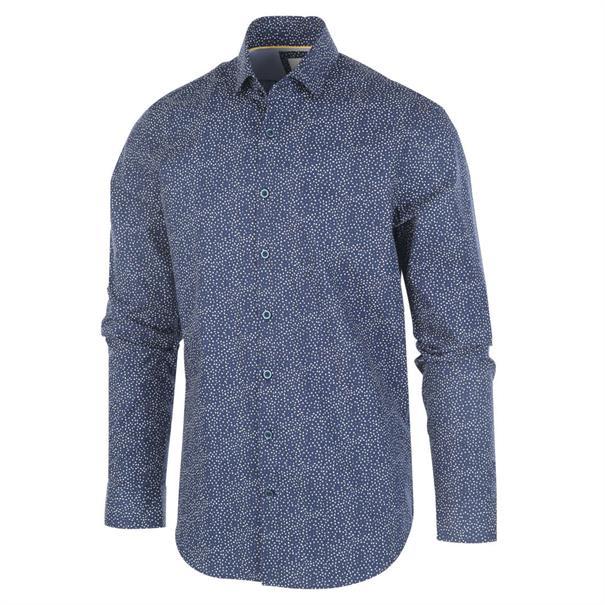 Blue Industry overhemd Slim Fit 1158.92 in het Marine