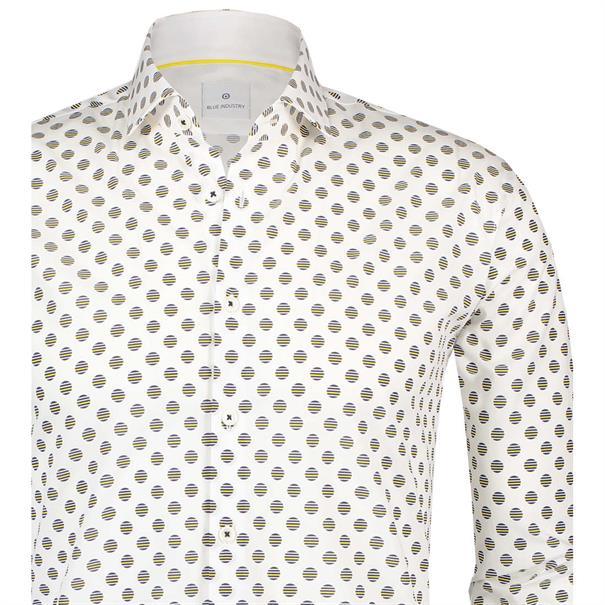 Blue Industry overhemd Slim Fit 1206-91 in het Wit