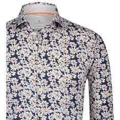 Blue Industry overhemd Slim Fit 1239-91 in het Beige