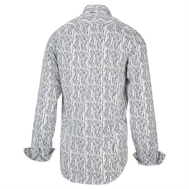 Blue Industry overhemd Slim Fit 2013.21 in het Ecru